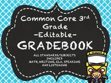 3rd Grade Common Core Gradebook Bundle-All Subjects