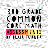 3rd Grade Common Core Math Assessments - ALL STANDARDS BUNDLE