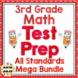 Math Test Prep (3rd Grade Common Core) All Standards Mega Bundle