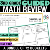 3rd Grade Math Written Response Tri-Folds - All Standards