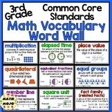 Math Word Wall and More - 3rd Grade