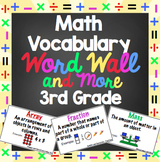Math Word Wall and More - 3rd Grade