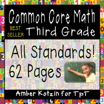 3rd Grade Common Core Math Worksheets (ALL STANDARDS)