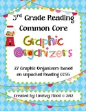 3rd Grade Common Core Reading Graphic Organizers