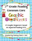 3rd Grade Common Core Reading Graphic Organizers