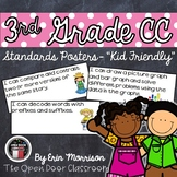 """3rd Grade Common Core Standards Posters- """"Kid Friendly"""""""