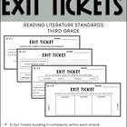 3rd Grade ELA Common Core Reading Literature Exit Tickets