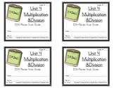 3rd Grade Everyday Math: Unit 4  Multiplication &Division