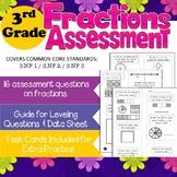 3rd Grade Fractions Assessment Common Core Math