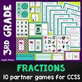 3rd Grade Fractions Math Partner Games:10 Games Designed f