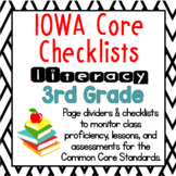 3rd Grade IOWA Core Literacy Checklists: Proficiency, Less