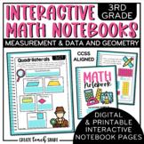 3rd Grade Interactive Math Notebook - Measurement & Data a