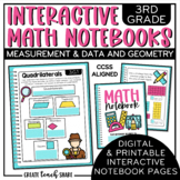 3rd Grade Interactive Math Notebook - Measurement & Data a
