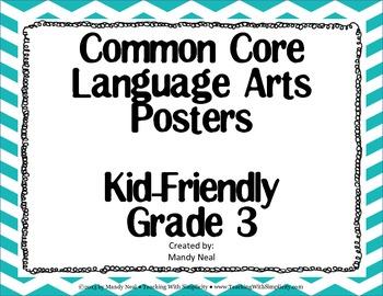3rd Grade ELA Common Core Posters