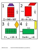3rd Grade Math Calendar - Area, Algebra, Fractions and Qua