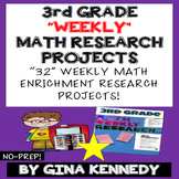 3rd Grade Math Enrichment Weekly Research Projects! Easy W