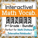 3rd Grade Math Vocabulary Interactive Notebook