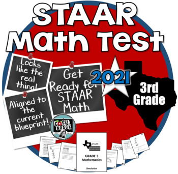 3rd Grade STAAR MATH PRACTICE TEST- Aligned with new TEKS and current blueprint