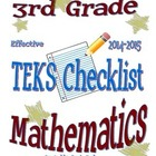 3rd Grade STAAR Math TEKS Checklist (with new TEKS effecti