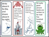 4 Colorful Bookmarks to Print & Cut w/Quotes from Children