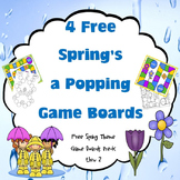 4 Free Spring Gameboards with Editable Cards Page