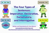 4 Types of Sentences Colorful Power Point with Memory Strategies