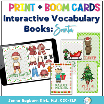Interactive Vocabulary Books: Santa (Winter Holidays Set 2)