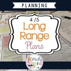 4/5 Long Range Plans