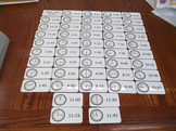 48 Laminated How To Tell Time themed Flash Cards.  Prescho