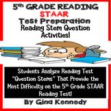 5th Grade STAAR Reading Stems Test-Prep
