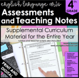 4th Grade Common Core ELA Assessments and Teaching Notes *