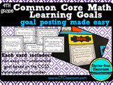 4th Grade Common Core Learning Goals {Posters, Targets, Ob
