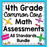 4th Grade Math Assessments (Common Core - All Standards Bundle)