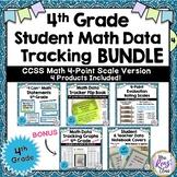 4th Grade Common Core Math Student Data Tracking Set: 4-po