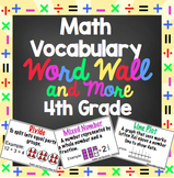4th Grade Common Core Math Word Wall and More