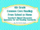 4th Grade Common Core Reading Discussion Questions: From S
