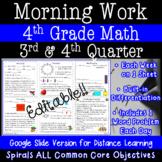 4th Grade Daily Math Morning Work 3rd and 4th quarter prac
