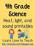 4th Grade Heat, Light, and Sound Printables