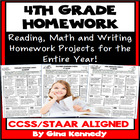 4th Grade Common Core Homework Language Arts & Math All Year!