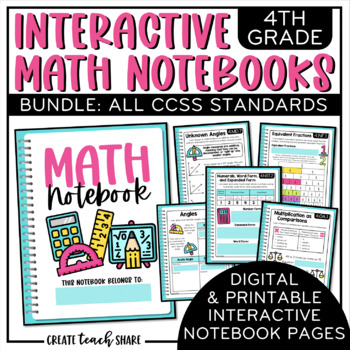 4th Grade Interactive Math Notebook {BUNDLE}