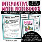4th Grade Interactive Math Notebook - Measurement & Data