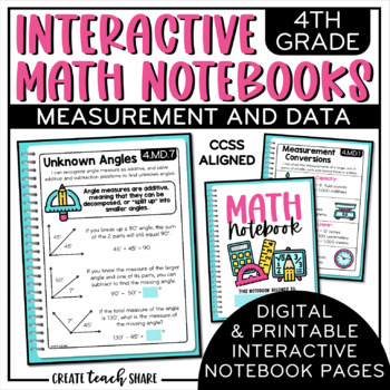 4th Grade Interactive Math Notebook - Measurement & Data