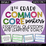 4th Grade MATH Common Core {Essential Qs & Learning Goals