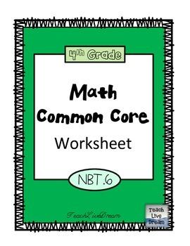 4th Grade Math Common Core Worksheet (4.NBT.6)