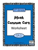 4th Grade Math Common Core Worksheet (4.OA.2)