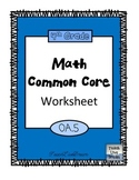 4th Grade Math Common Core Worksheet (4.OA.5)