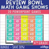 4th Grade Math Quiz Bowl - Game Show Review - BUNDLE