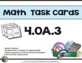 4th Grade Math Task Cards 4.0A.3 Common Core Aligned