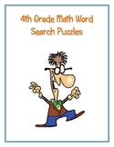 4th Grade Math Vocabulary Word Search Puzzles