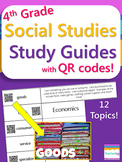 4th Grade Social Studies Study Guides with QR Codes {Folda